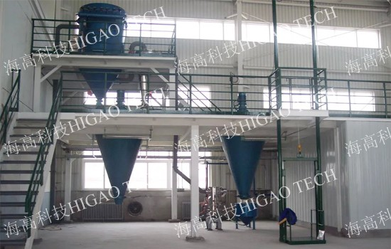 fluidized bed jet milling machine